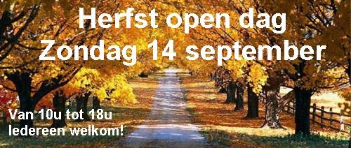 Herfst banner open dag de groene kaai